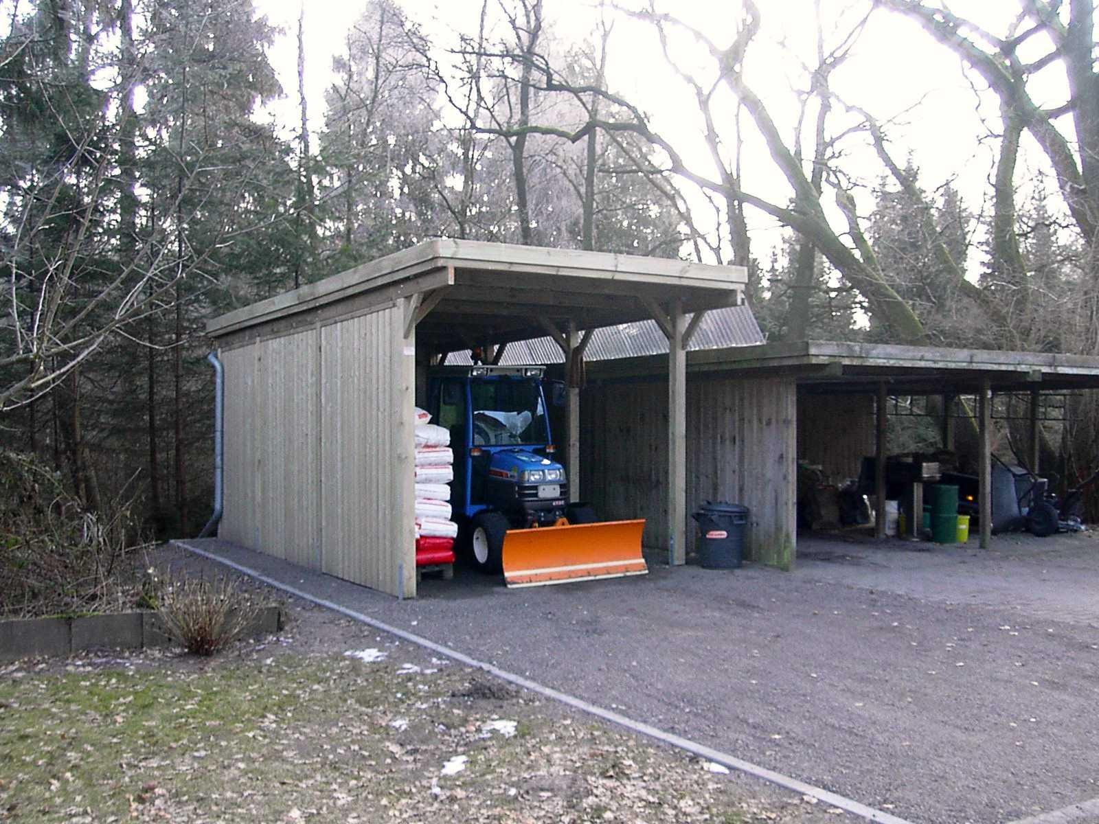 Carport extra hoch für Schneepflug, Transporter, Traktor