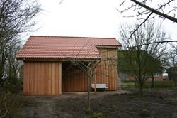 Fassade Holz Rhombusprofil schön
