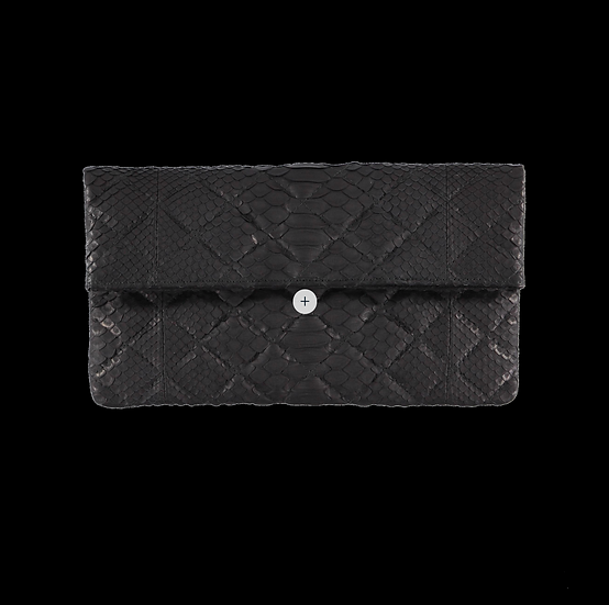 Quilted Black Clutch