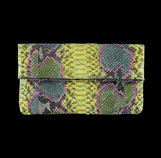 Quilted Multicolor Clutch