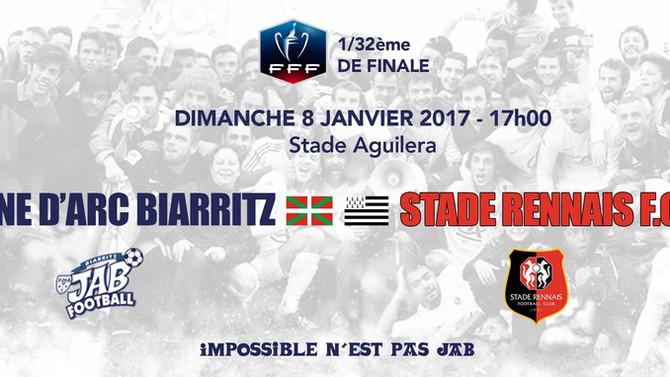 La J.A de Biarritz face à Rennes