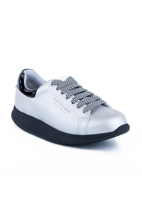PEN WALKING 3- Sliver leather sneaker
