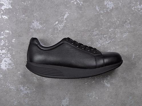 PEN WALKING 3- Black leather sneaker with lace