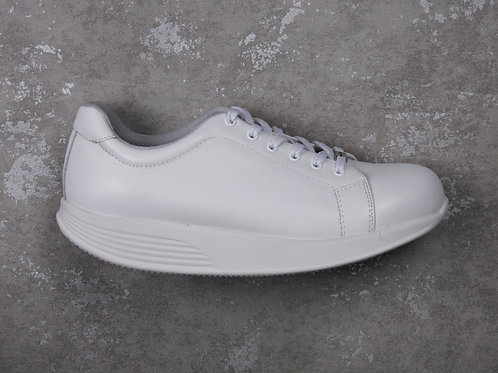 PEN WALKING 3- White leather sneaker with lace
