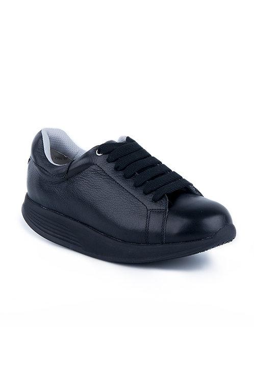 PEN WALKING 3- Black leather sneaker