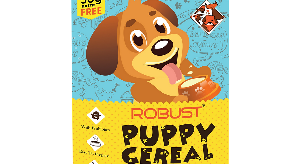 ROBUST PUPPY CEREAL : Original Recipe (New Pack : 550g)