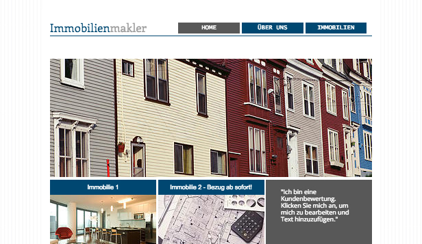 Immobilien website templates – Immobilien-Gruppe