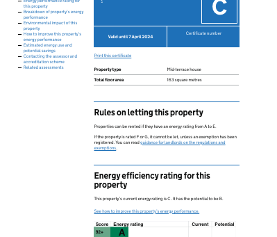 New look and feel to the Energy performance certificates