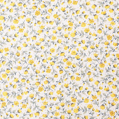 Yellow Floral storage footstool