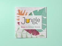 Copertina menù beer & drink - Jungle