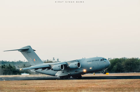 C-17 Globemaster of the Indian Air Force taking off from Yelahanka Air Force Station