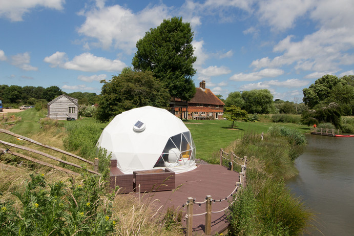 Ulitmate Glamping in the Dome at Rye Island