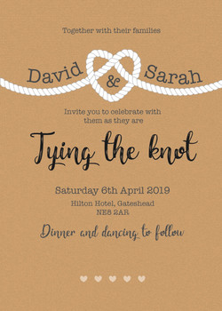 Tying the knot 2 Invitation