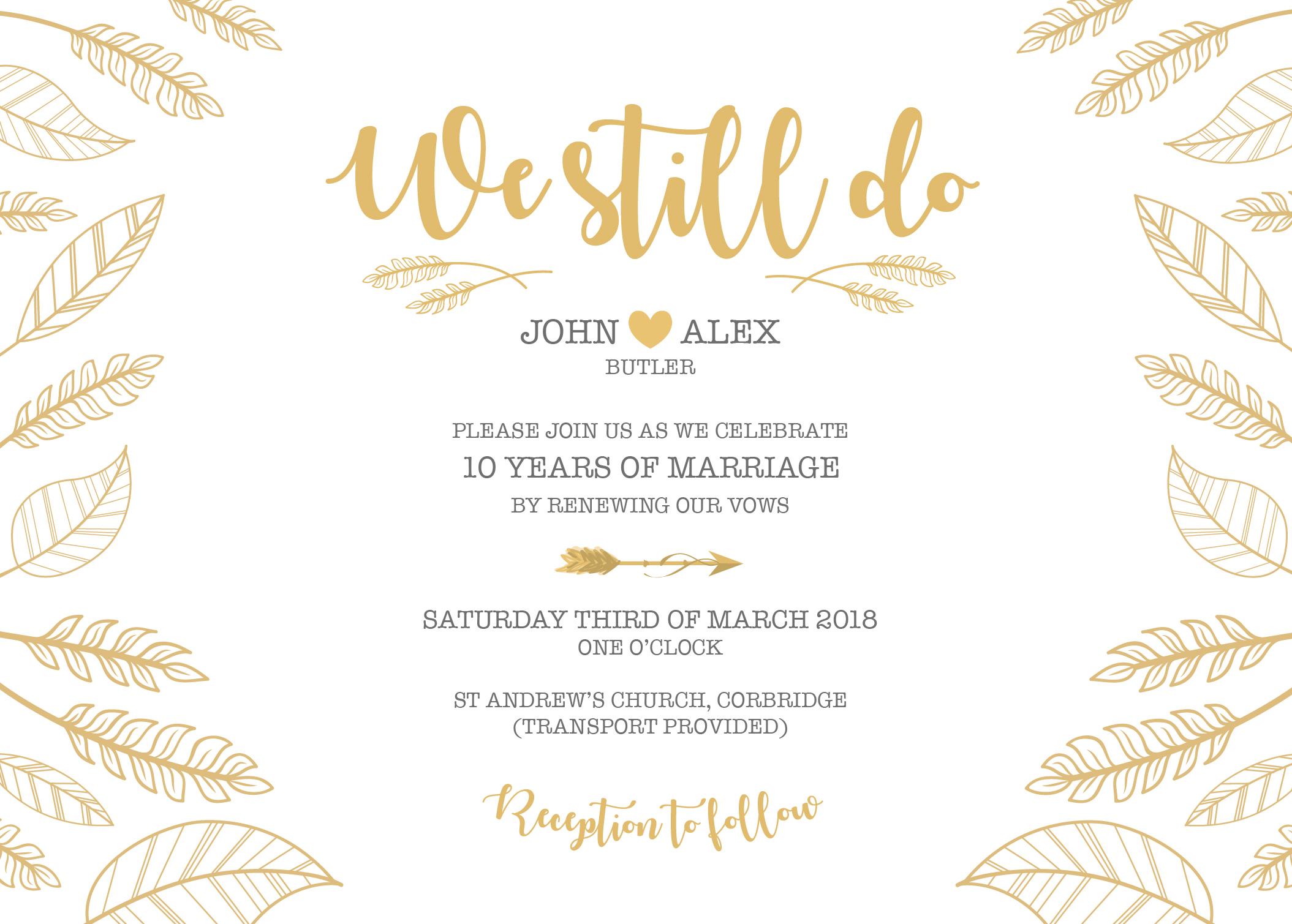 Boho Invitation