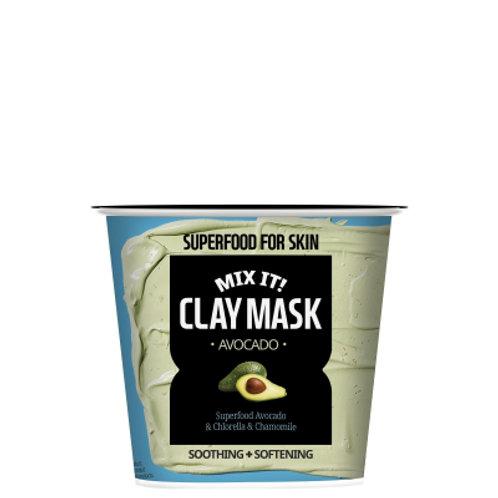 Farmskin маска глиняная успокаивающая и смягчающая маска с экстрактом авокадо