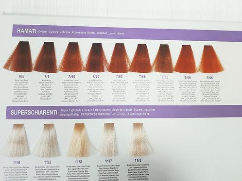 Перманентный краситель для волос DCM HОР Complex 100мл Медные и суперосветлители