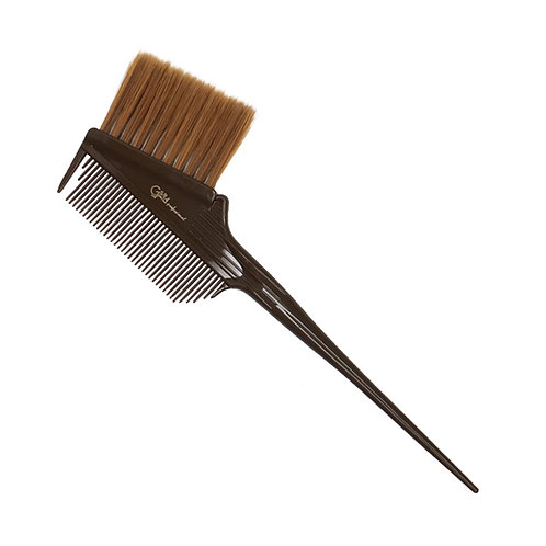 Кисть-гребень с удлиненной щетиной, коричневая