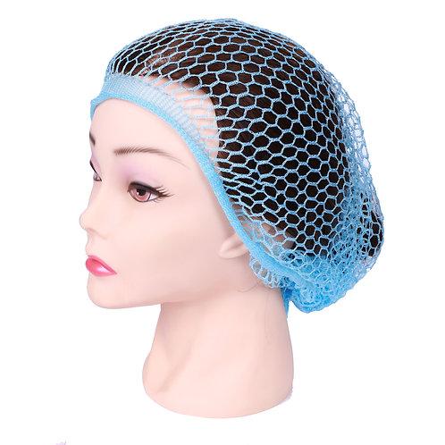 Сеточка-косынка для бигуди крупная голубая
