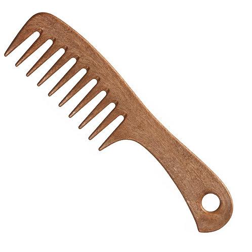 Расческа с ручкой деревянная