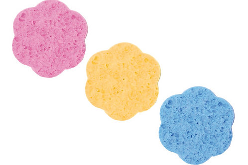 Комплект спонжей 70 mm 12 шт цветные