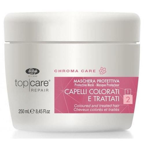 Восстанавливающая защитная маска для окрашенных, поврежденных волос – «Top Care
