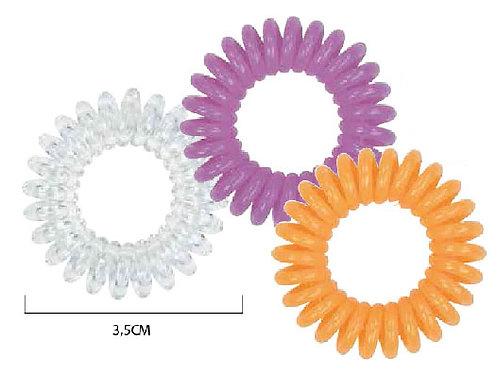Спиральные резинки 3 шт/уп цвет в ассортименте