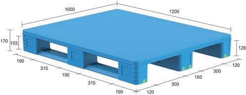 13D-121070-S4(A) | Pharmaceutical Plastic Pallet