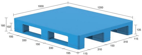 13S-121080-S4 | Hygiene Plastic Pallet