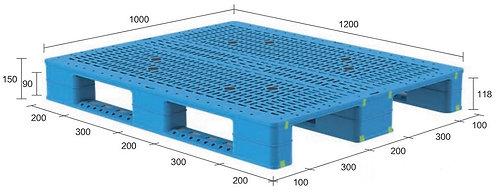 13H-121050-S4(C) | Heavy Duty Plastic Pallet