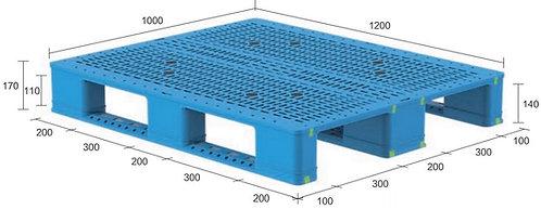 13H-121070-S4(B)   Heavy Duty Plastic Pallet