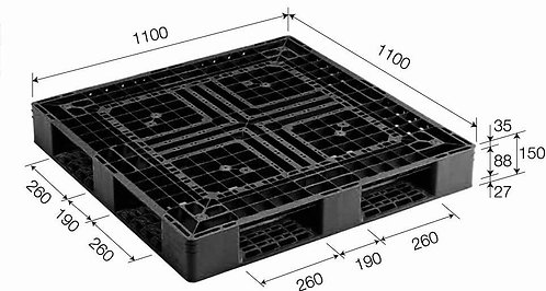 4C-111150-D4 | Cargo Plastic Pallet | One-Way Plastic Pallet