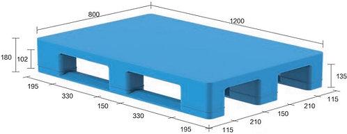 13S-128080-S4   Hygiene Plastic Pallet