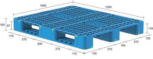 13M-121050-S4   Heavy Duty Plastic Pallet