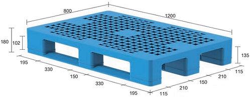 13H-128080-S4 | Heavy Duty Plastic Pallet