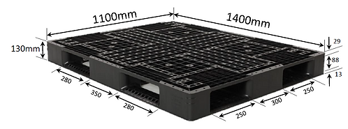 4C-141130-D4 | Cargo Plastic Pallet | One-Way Plastic Pallet