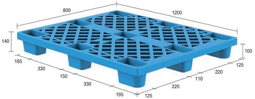 13C-128040-N4 | Nestable Plastic Pallet