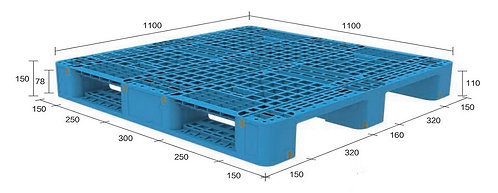 13H-111150-S4(A) | Heavy Duty Plastic Pallet