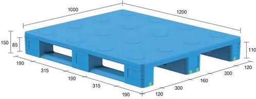 13D-121050-S4(B) | Pharmaceutical Plastic Pallet