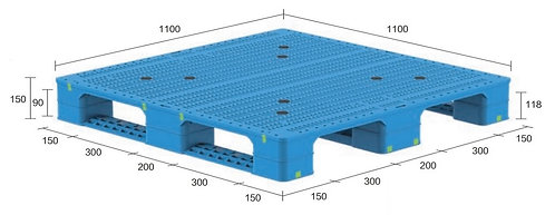 13H-111150-S4(B) | Heavy Duty Plastic Pallet
