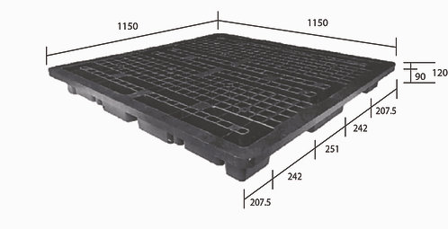 3C-115020-S2 | Cargo Plastic Pallet | One-Way Plastic Pallet