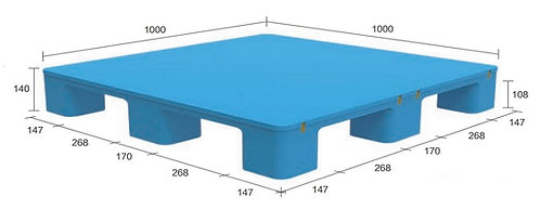 13S-101040-N4 | Hygiene Plastic Pallet