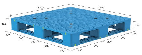 13H-111170-D4 | Heavy Duty Plastic Pallet
