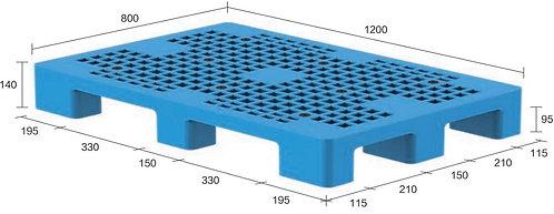 13M-128040-N4 | Heavy Duty Plastic Pallet