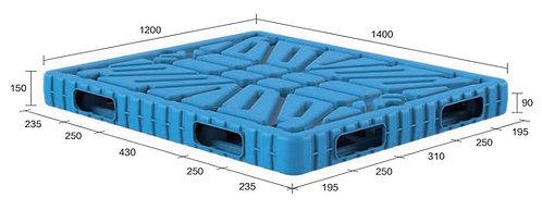 13B-141250-R4 | Blow Moulding Plastic Pallet