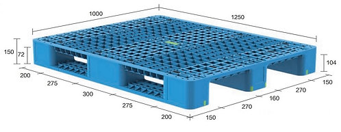 13H-1251050-S4(A) | Heavy Duty Plastic Pallet