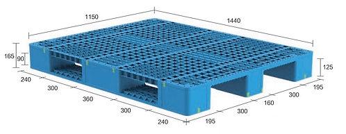13H-14411565-S4 | Heavy Duty Plastic Pallet