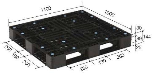 4C-111044-D4 | Cargo Plastic Pallet | One-Way Plastic Pallet