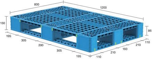 13M-128050-D4 | Heavy Duty Plastic Pallet