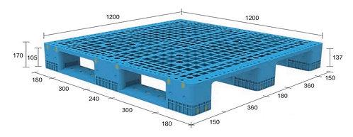13H-121270-S4 | Heavy Duty Plastic Pallet