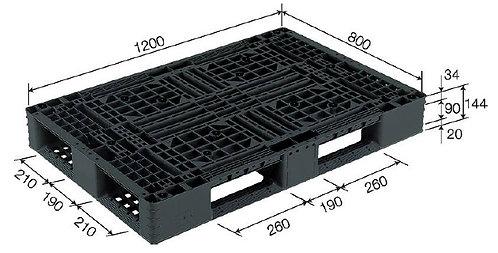 4C-128044-D4 | Cargo Plastic Pallet | One-Way Plastic Pallet